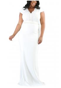 Wedding,Evening, Rhinestone, white full length sexy dress 18-20 Cornubia Logan Area Preview