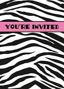 Zebra Print Invitations