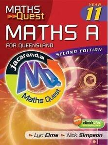 Maths Quest Maths A Year 11 (2nd Edition) Burpengary Caboolture Area Preview