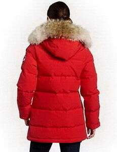 Red Canada Goose Women Solaris Parka