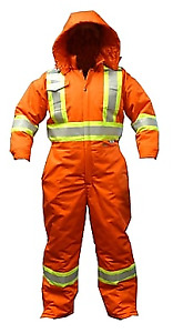 Viking CSA Striped Insulated Safety Coveralls, Orange, Large