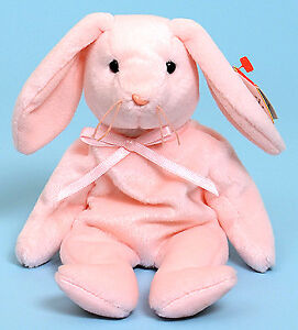 Hoppity the Pink Bunny Ty Beanie Baby stuffed animal