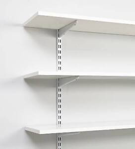 Heavy Duty Wall Mounted Shelving With Metal Track and Brackets