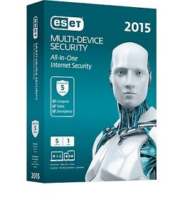 ESET Multi Device Security 2015 | 5 Benutzer User | 1 Jahr | Minibox mit DVD-ROM