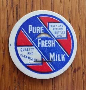 "Vintage ""Pure Fresh Milk"" Bottle Top (unused)"