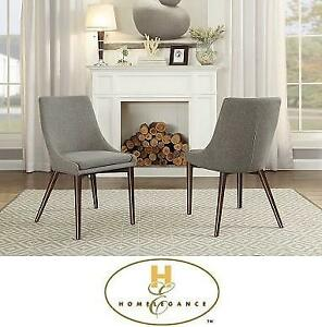 2 NEW HOMELEGANCE SIDE CHAIRS 5048S-LGY 189493594 LIGHT GREY GRAY HOME HOUSE FURNITURE DECOR
