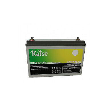 Batería para placas solares de caravanas o barcos Kaise de 120Ah