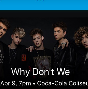 Why Don't We concert Tickets x 2