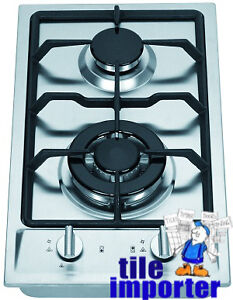 Elfa 30cm 2 Burner Stainless Steel Gas Cooktop - New - $190