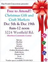 Christmas Gift and Craft Markets