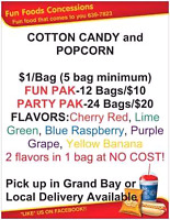 PARTY TREATS! Cotton Candy, Popcorn and more....