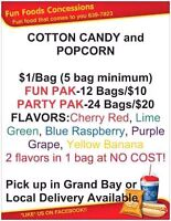 COTTON CANDY, CANDY APPLES, POPCORN....