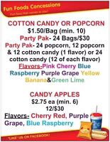CANDY APPLES, COTTON CANDY, CANDY APPLES and more