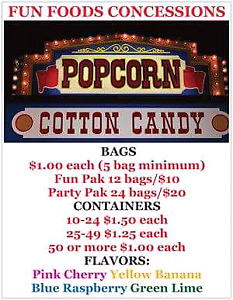 Less than $1/bag! FUN FOODS CONCESSIONS
