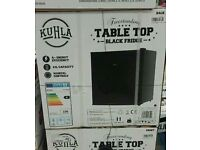 Black Table Top Fridge With Freezer Compartment *Brand New*