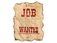 Seeking minimum 16hrs a week permanent employment job start ASAP