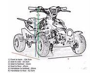 X2 Brand new mini petrol quads bikes