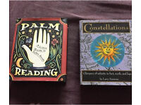 2 pocket spiritual books. Palm Reading and Constellations