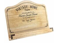 Vintage Home Wooden Recipe Stand