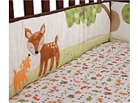 New Lambs and Ivy crib bumper and frill