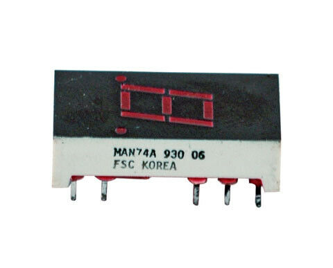 Seven segment Red LED display, single digit,