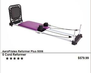 Aero Pilates reformer plus machine (5 cord with rebounder)