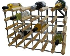30 Bottle Traditional Wine Rack - Fully Assembled - Natural Pine