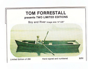 "Ltd. Edition Print by Tom Forestall ""Boy and River"" $250"