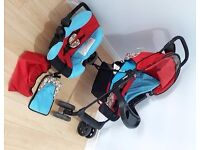 HAUCK ALL IN ONE PRAM PUSHCHAIR TRAVEL SYSTEM AS NEW