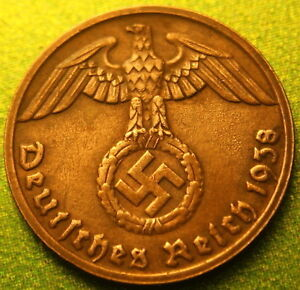 Rare-Old-Antique-Vintage-Hitler-Germany-WWII-Nazi-Army-Swastika-Collection-Coin