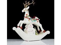 Bella Notte Christmas Luminary Reindeer with Flameless Candle