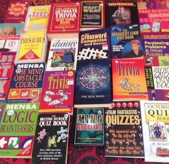 Wanted: Quiz,brain-teasers & trivia books x 25