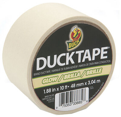 Case Of 6 Glow In The Dark Duck Duct Tape 10 Ft Rolls 281261 Free Shipping