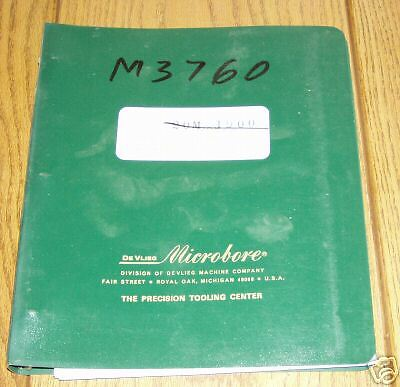 Devlieg Horizontal Tool Presetter Technical Manual