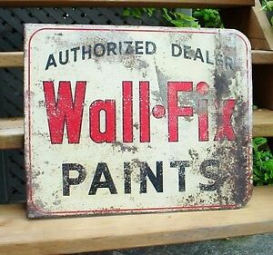 Antique 50s flange mount Paint advertisement tin litho sign London Ontario image 2