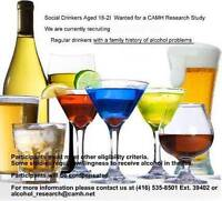 Social Drinkers (18-21 yrs. old) Wanted for Research Study