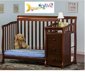 NEW* DREAM ON ME CONVERTIBLE CRIB - 111753508 - Jayden 4 in 1 - Crib with Changer, Espresso