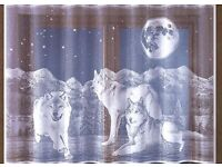Net Curtain (Wolves, Husky, Animals lover)