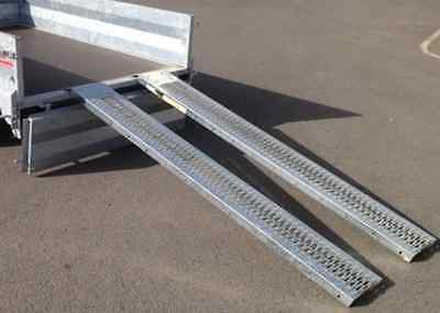880LB 1.8M STEEL LOADING RAMPS TRAILER VAN/TRUCK MOTORCYCLE/MOTORBIKE/LAWN MOWER