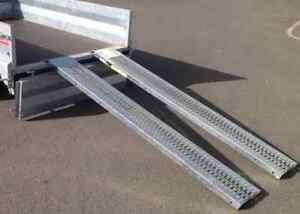 880LB 1.8M STEEL LOADING RAMPS TRAILER VAN/TRUCK MOTORCYCLE/MOTORBIKE/LAWN MOWER