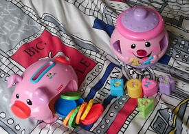 Fisher Price Cookie Jar and Money Bank Pig