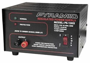 NEW PYRAMID PS12KX 10-Amp 13.8V AC/DC Home Heavy Duty Power Supply Converter