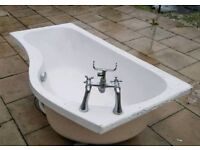 P Shape Bath 1500mm x 700mm