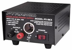Pyramid (PS9KX) 5 Amp Power Supply w/Cigarette Lighter Plug