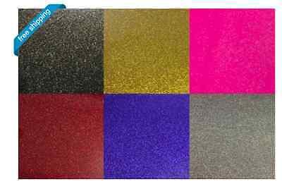 Glitter Heat Transfer Vinyl - 6 Color Starter Bundle -6 Sheets Of 12 X 20