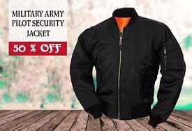 MENS MA1 MILITARY ARMY PILOT SECURITY JACKET