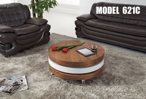 Black and White High Gloss Tempered Glass Coffee Table