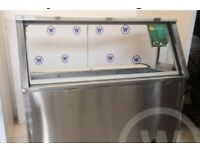 5' Chilled Subway Counter With Night Lid - Display Fridge, serve over, servover