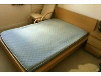 Ikea double bed with mattress . Free delivery
