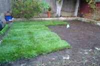 Sod, eves trough, grading, topsoil, flower beds FREE QUOTE!!!!